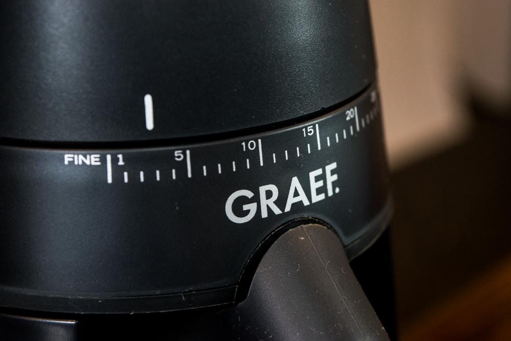 Einstellung Mahlgrad makro Graef CM 702